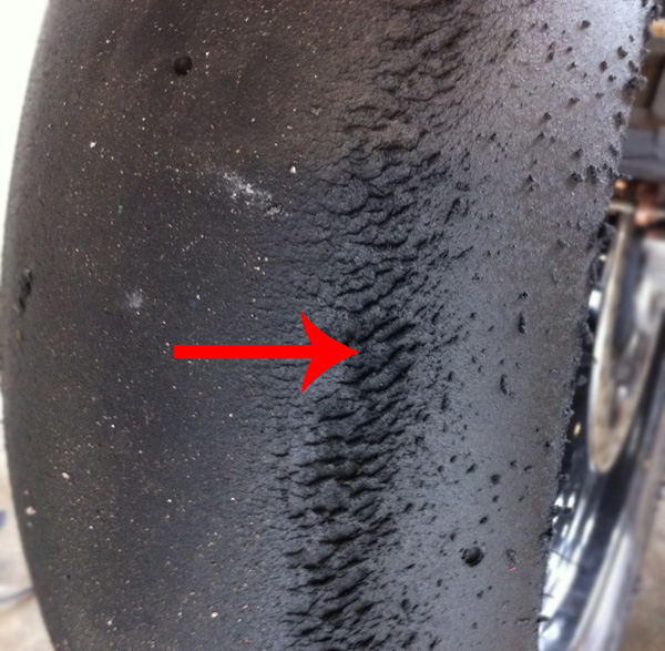 Race Track Motorcycle Tyre Wear Guide Types And Causes